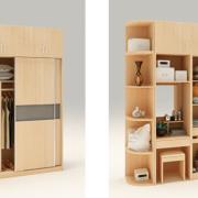 tủ quần áo nhiều ngăn kết hợp bàn